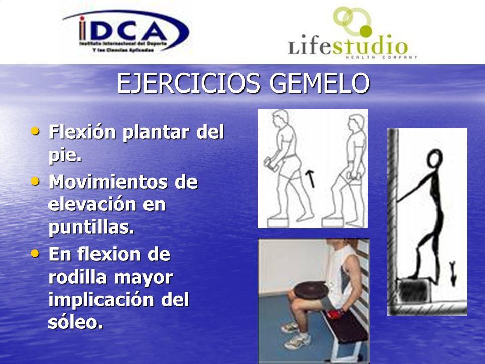 EJERCICIOS GEMELO Flexión plantar del pie.