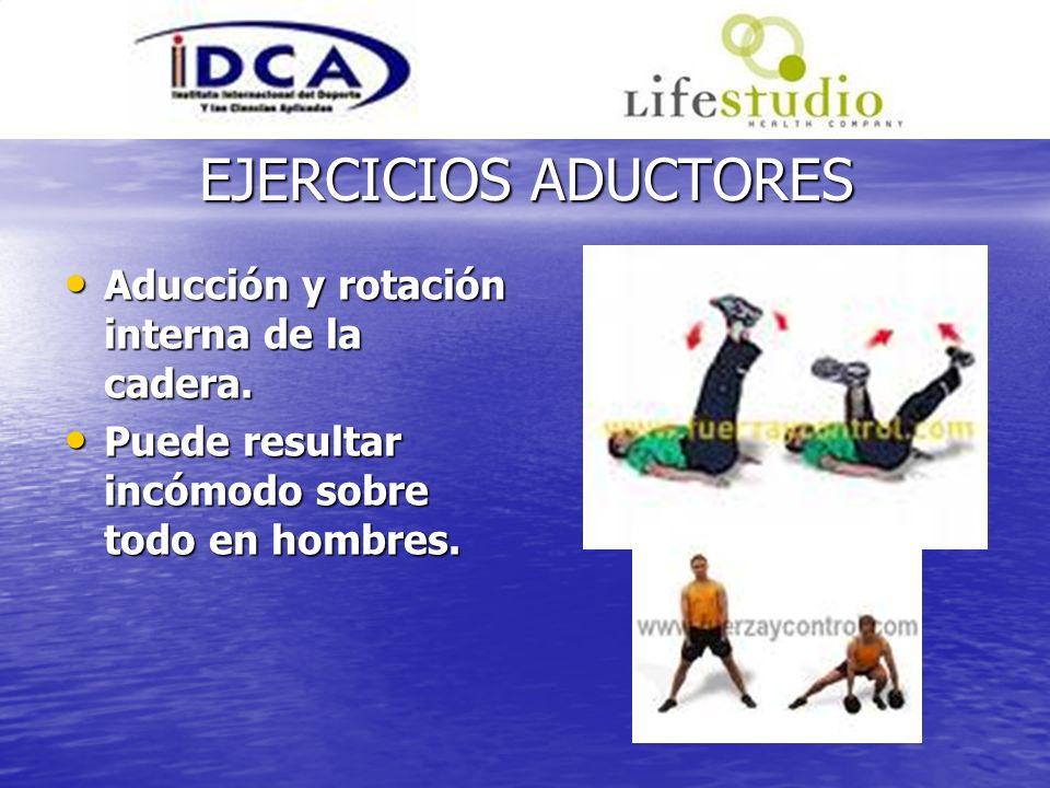 EJERCICIOS ADUCTORES Aducción y rotación interna de la cadera.