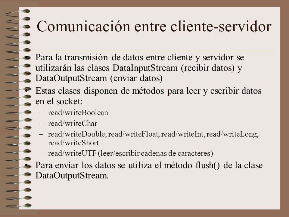Comunicación entre cliente-servidor