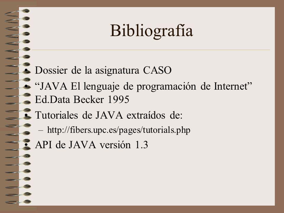 Bibliografía Dossier de la asignatura CASO