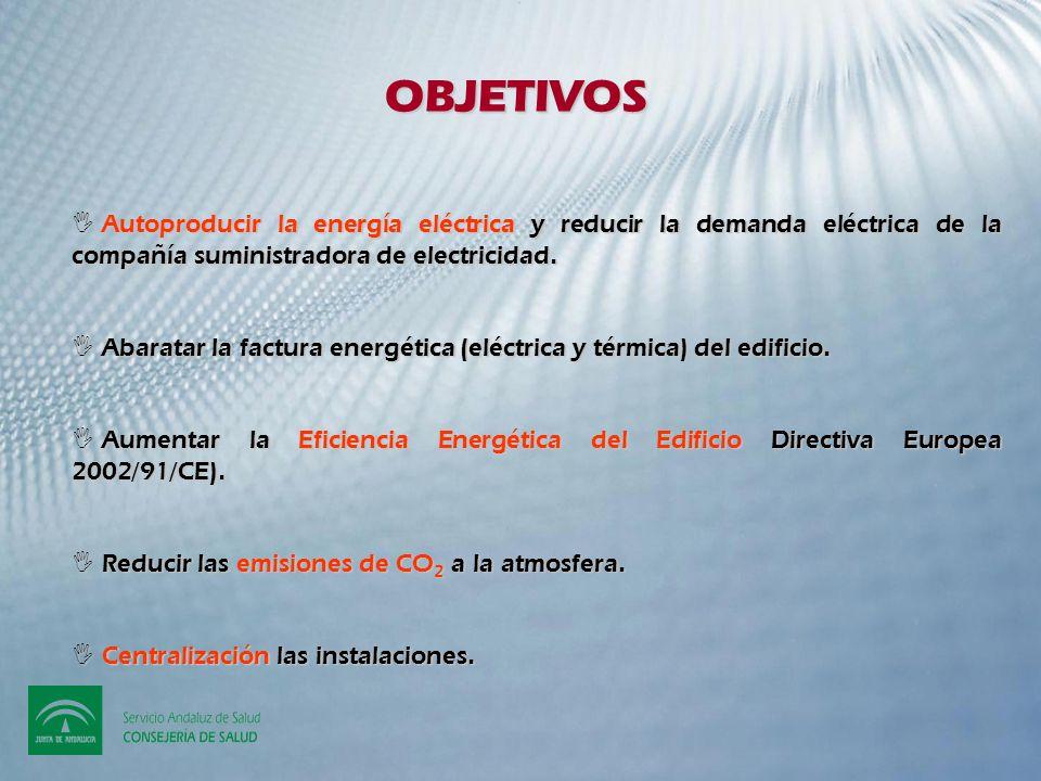 OBJETIVOS Autoproducir la energía eléctrica y reducir la demanda eléctrica de la compañía suministradora de electricidad.