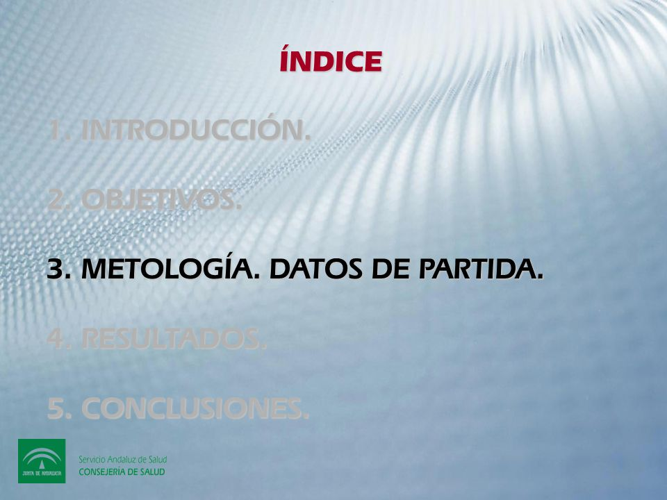 ÍNDICE 1. INTRODUCCIÓN. 2. OBJETIVOS. 3. METOLOGÍA.