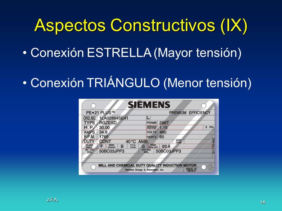 Aspectos Constructivos (IX)