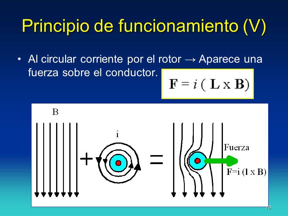 Principio de funcionamiento (V)