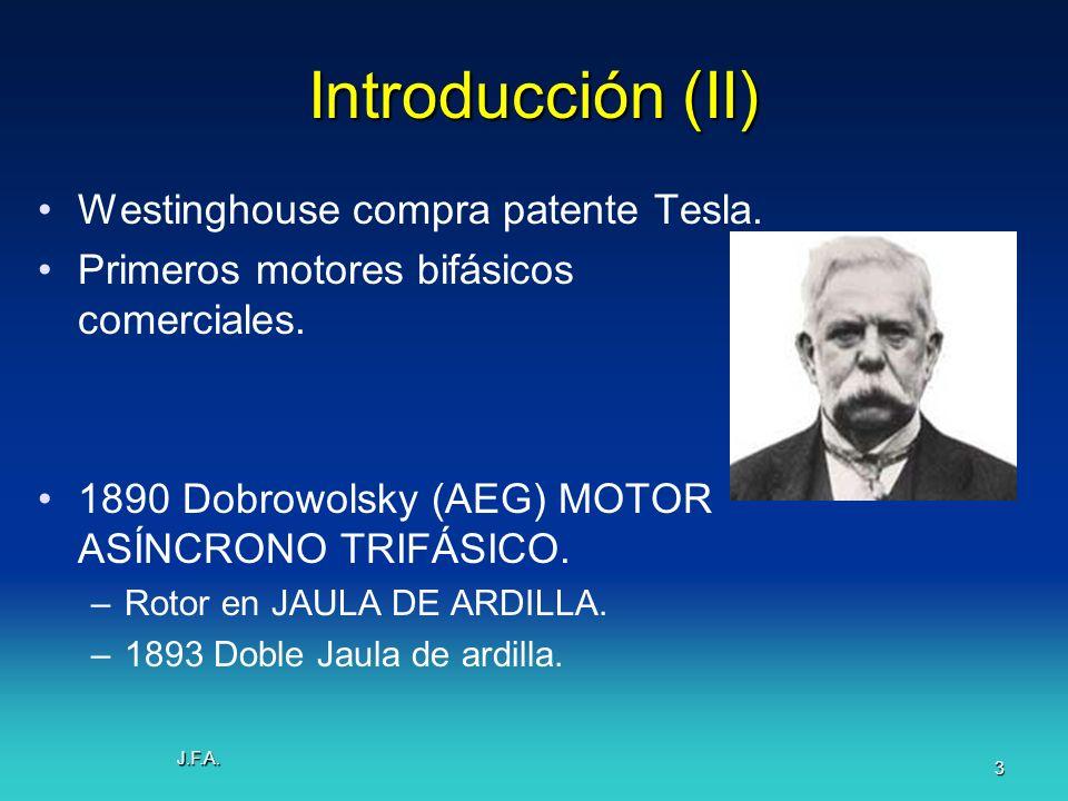 Introducción (II) Westinghouse compra patente Tesla.