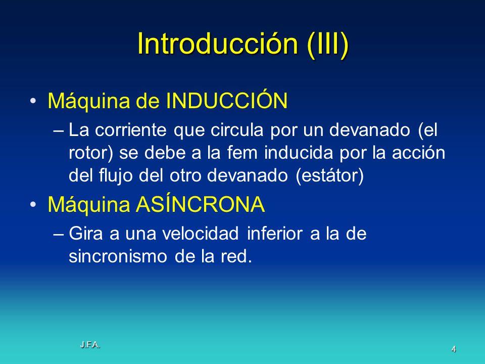 Introducción (III) Máquina de INDUCCIÓN Máquina ASÍNCRONA