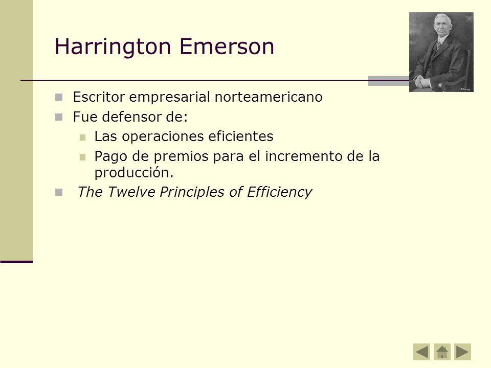 Harrington Emerson Escritor empresarial norteamericano