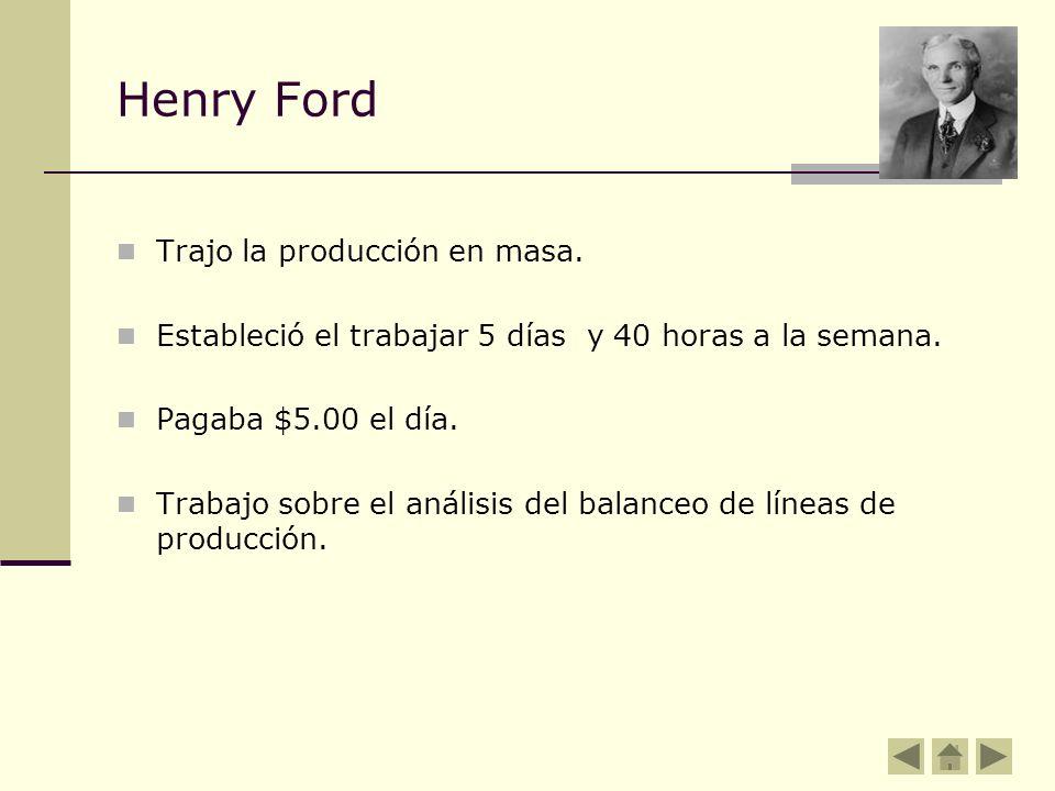 Henry Ford Trajo la producción en masa.