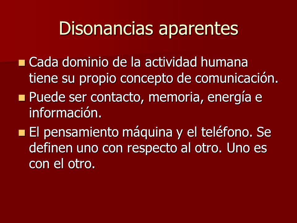 Disonancias aparentes