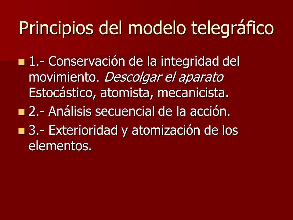 Principios del modelo telegráfico