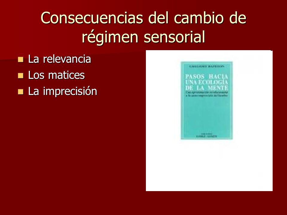 Consecuencias del cambio de régimen sensorial