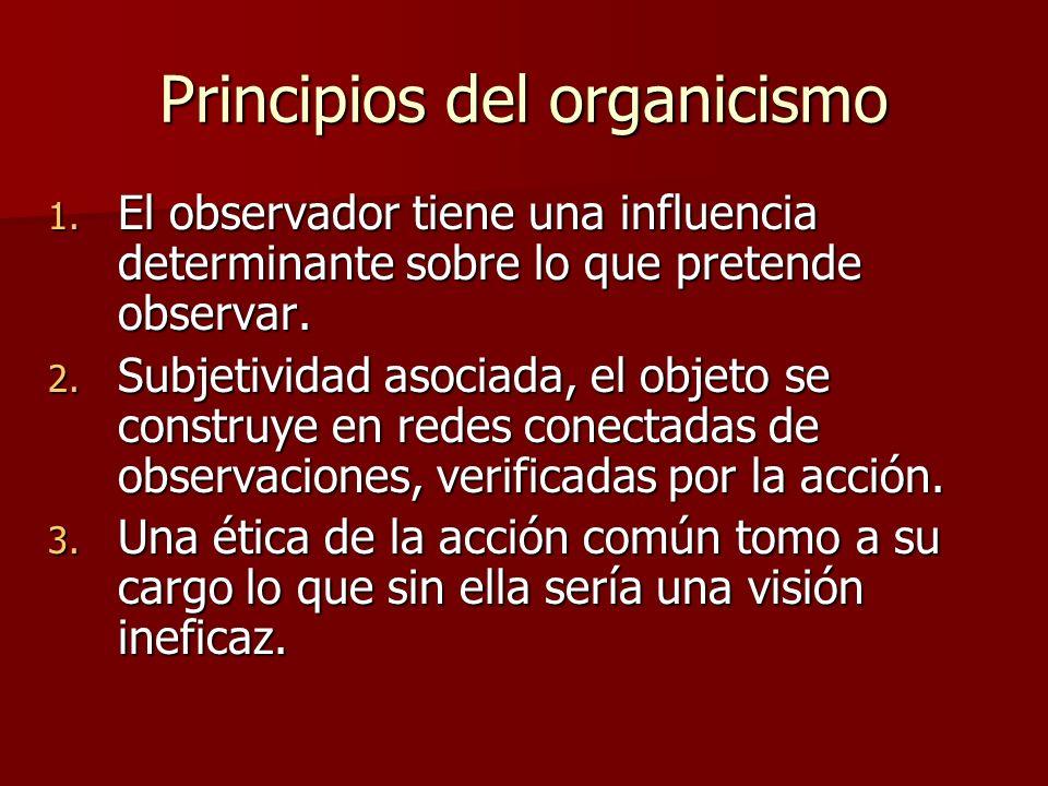 Principios del organicismo