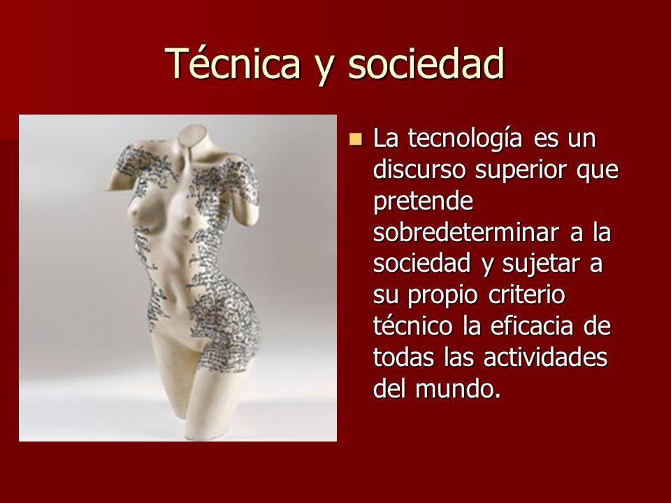 Técnica y sociedad