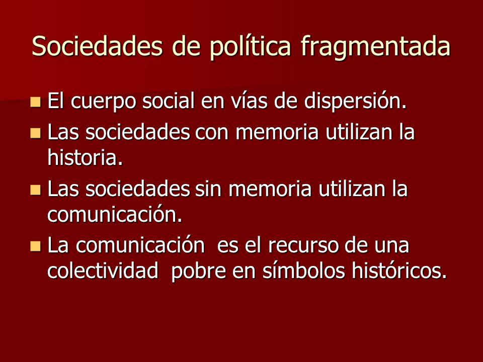 Sociedades de política fragmentada