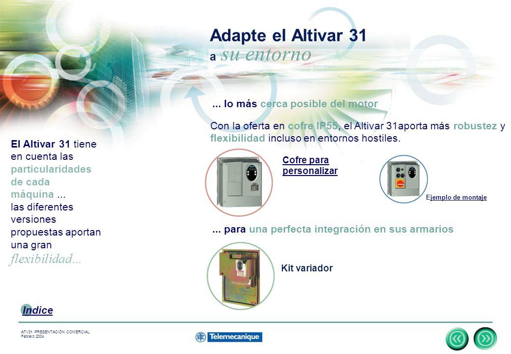 Adapte el Altivar 31 a su entorno