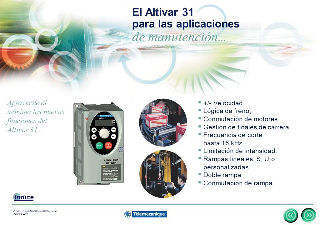 El Altivar 31 para las aplicaciones de manutención...