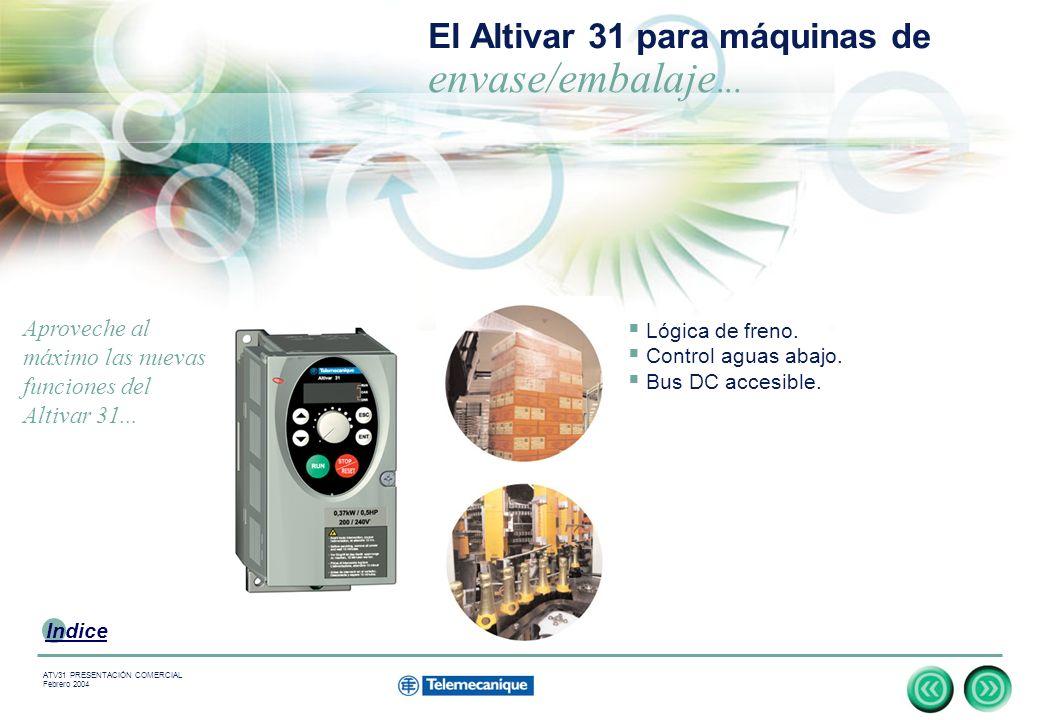 El Altivar 31 para máquinas de envase/embalaje...