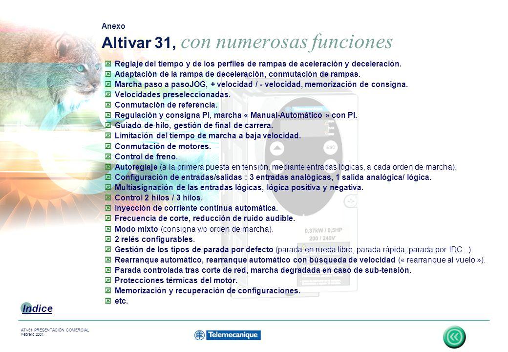 Anexo Altivar 31, con numerosas funciones