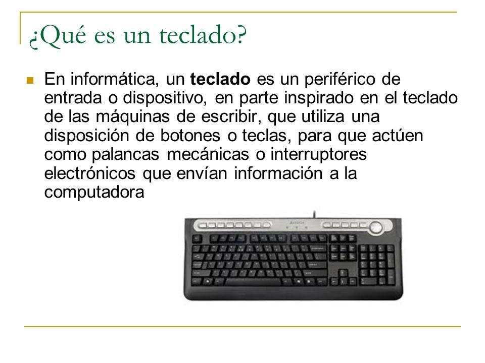 ¿Qué es un teclado