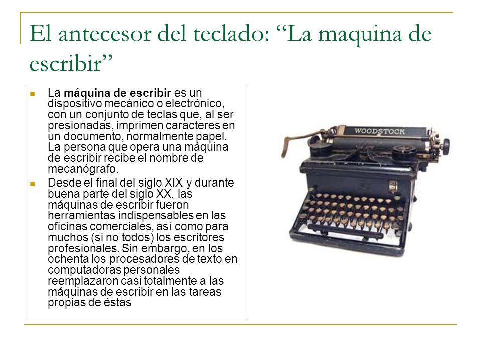 El antecesor del teclado: La maquina de escribir