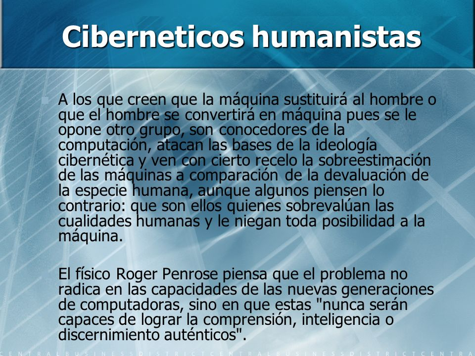 Ciberneticos humanistas