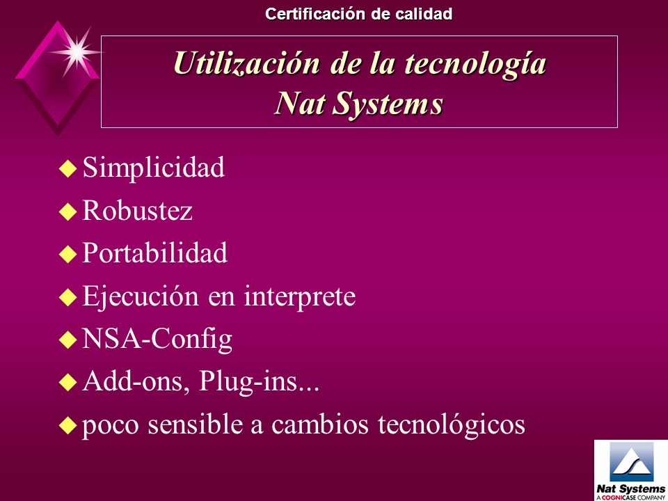Utilización de la tecnología Nat Systems