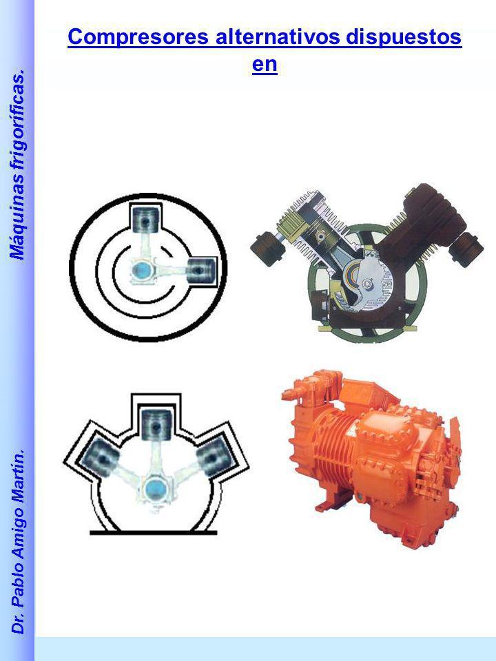 Compresores alternativos dispuestos en