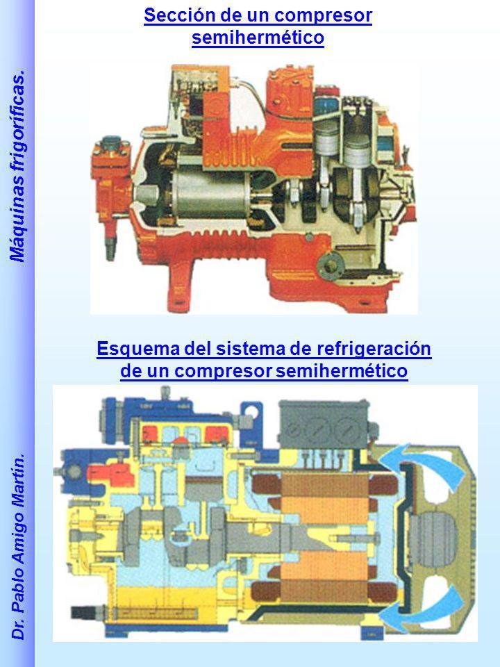 Sección de un compresor semihermético