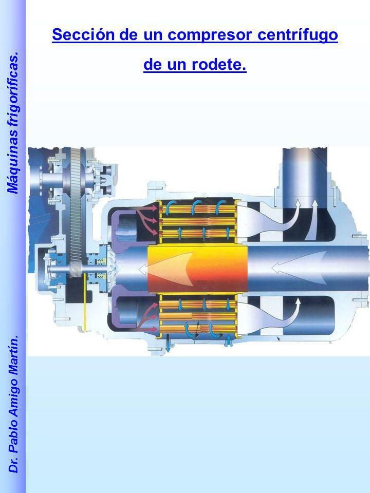 Sección de un compresor centrífugo
