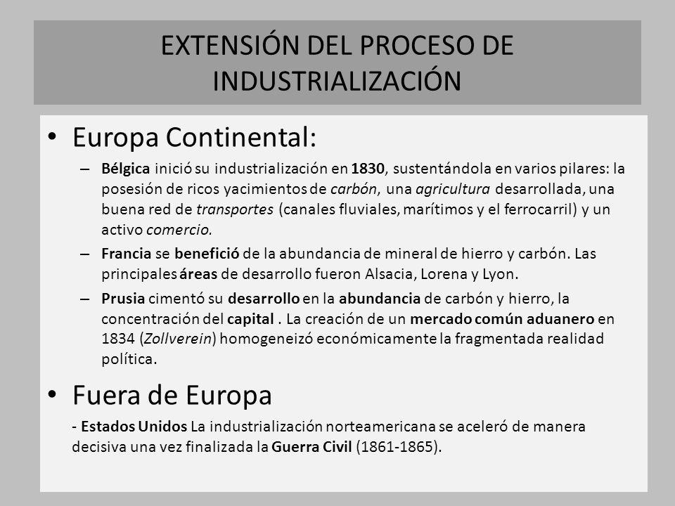 EXTENSIÓN DEL PROCESO DE INDUSTRIALIZACIÓN