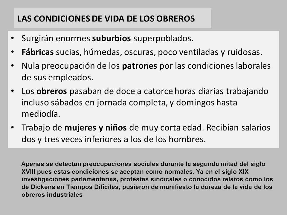 LAS CONDICIONES DE VIDA DE LOS OBREROS