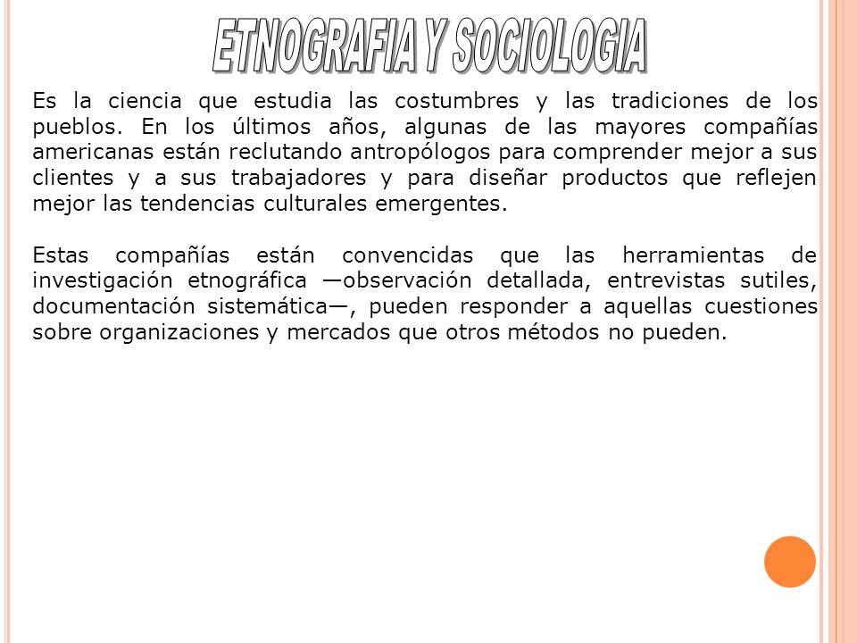 ETNOGRAFIA Y SOCIOLOGIA