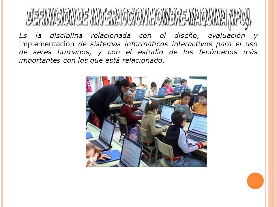 DEFINICION DE INTERACCION HOMBRE-MAQUINA (IPO).