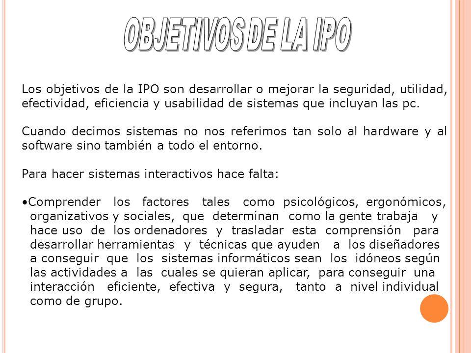 OBJETIVOS DE LA IPO