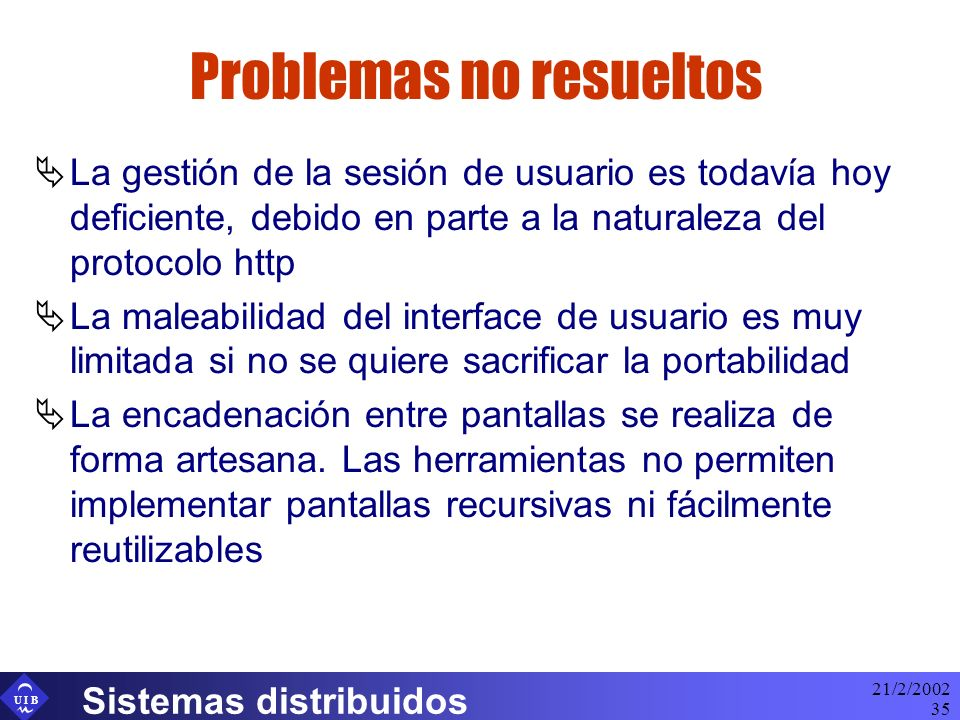 Problemas no resueltos
