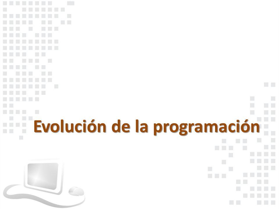 Evolución de la programación