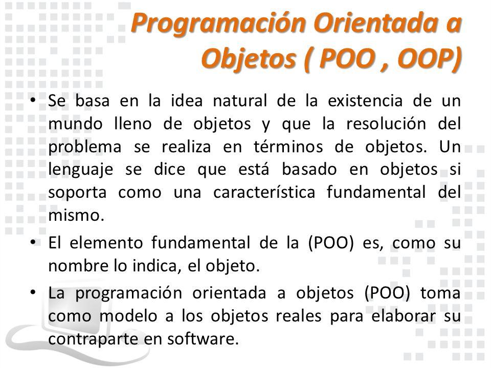 Programación Orientada a Objetos ( POO , OOP)