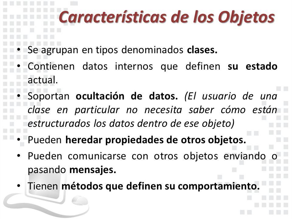 Características de los Objetos