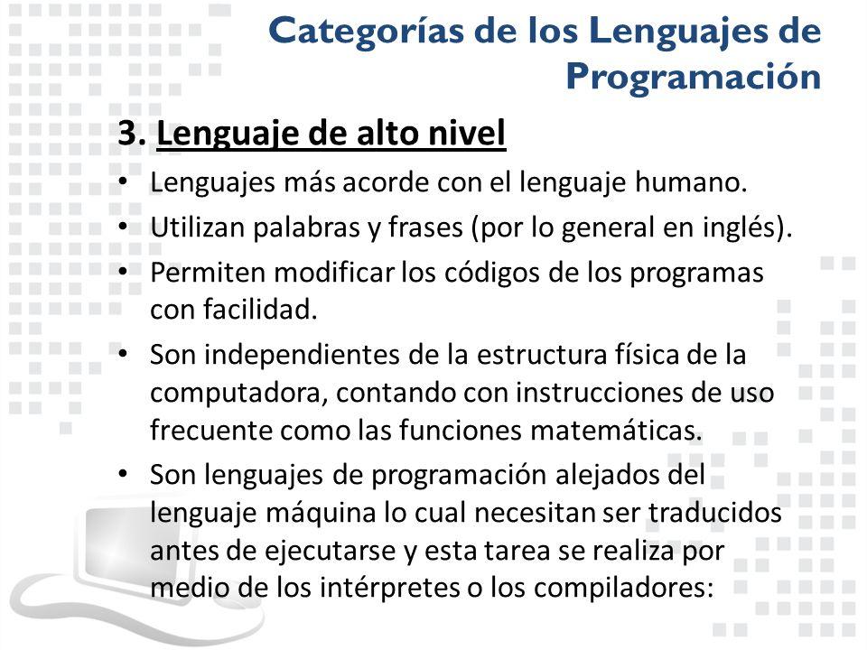 Categorías de los Lenguajes de Programación