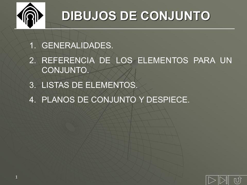 DIBUJOS DE CONJUNTO GENERALIDADES.