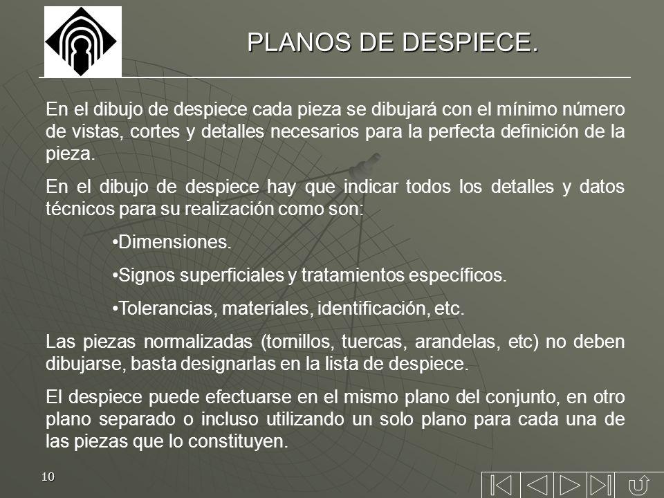 PLANOS DE DESPIECE.