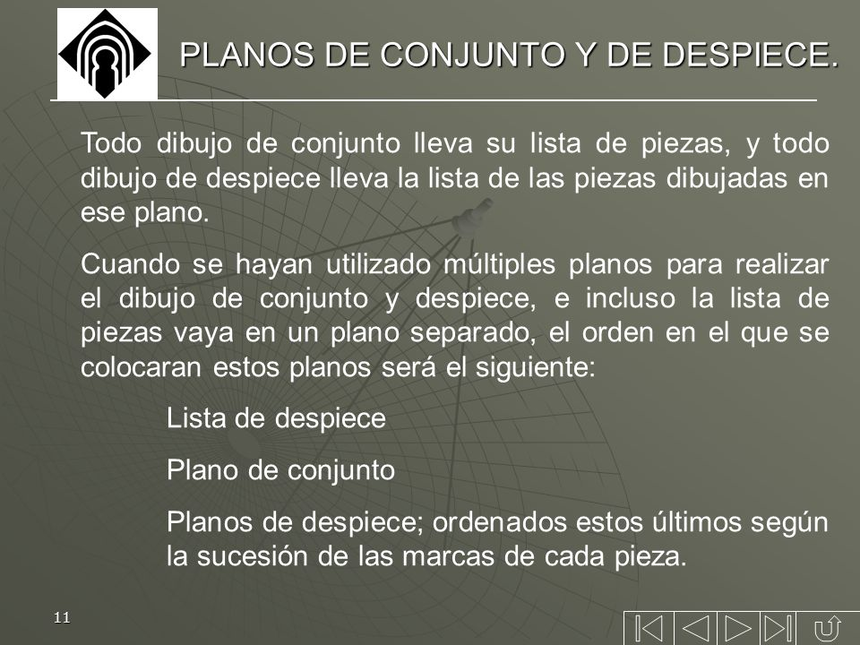 PLANOS DE CONJUNTO Y DE DESPIECE.