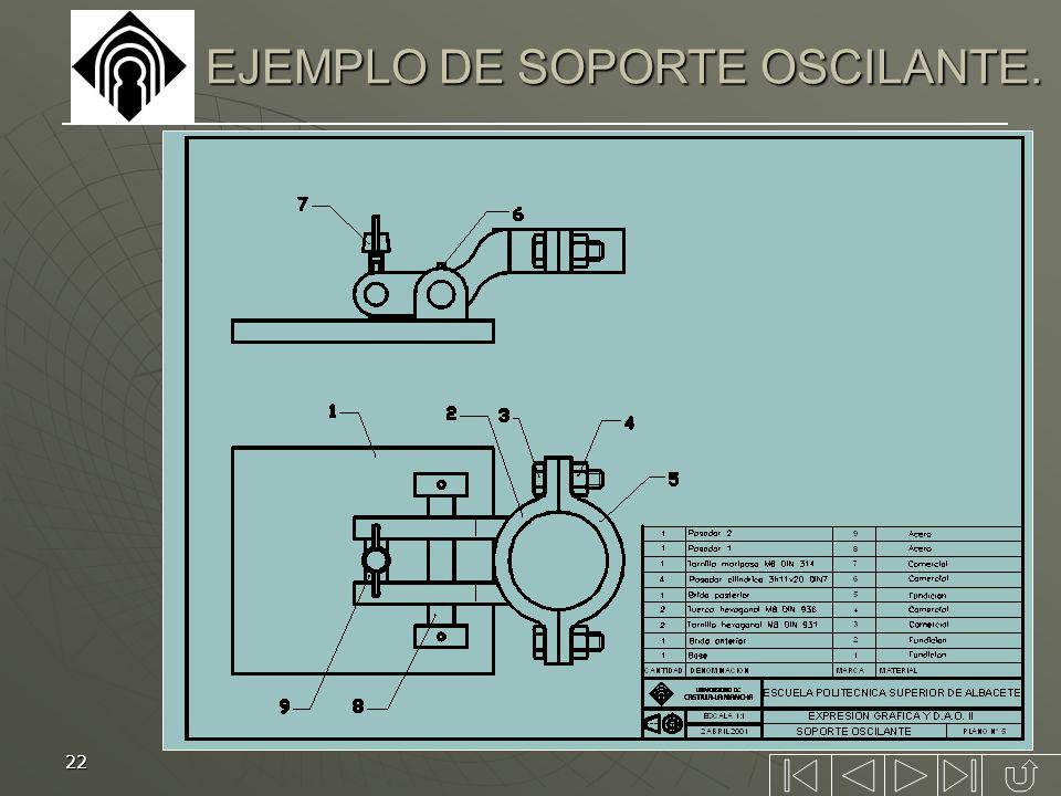 EJEMPLO DE SOPORTE OSCILANTE.