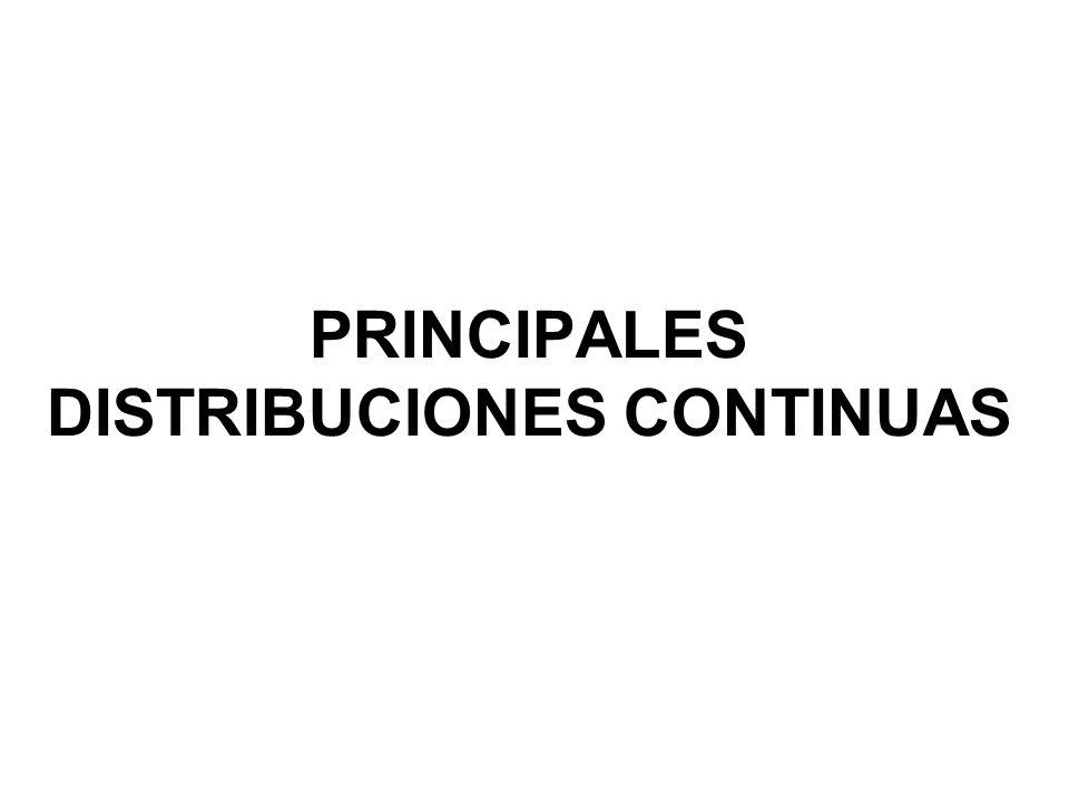 PRINCIPALES DISTRIBUCIONES CONTINUAS