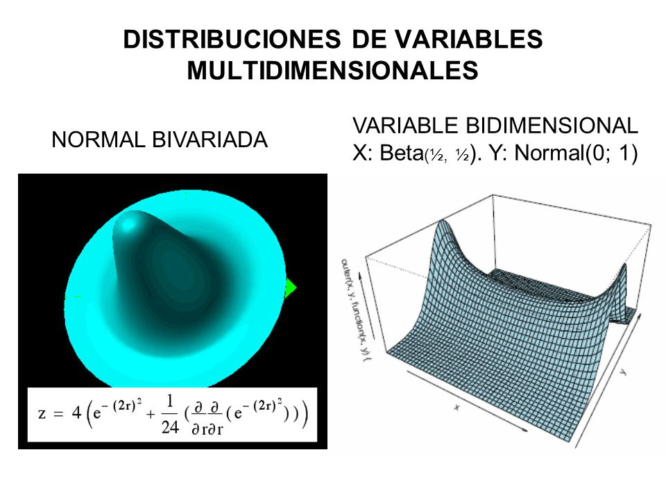 DISTRIBUCIONES DE VARIABLES MULTIDIMENSIONALES