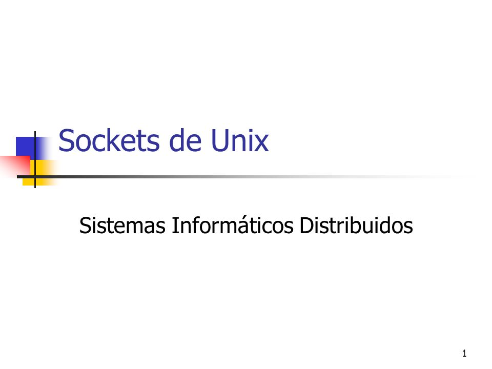 Sistemas Informáticos Distribuidos