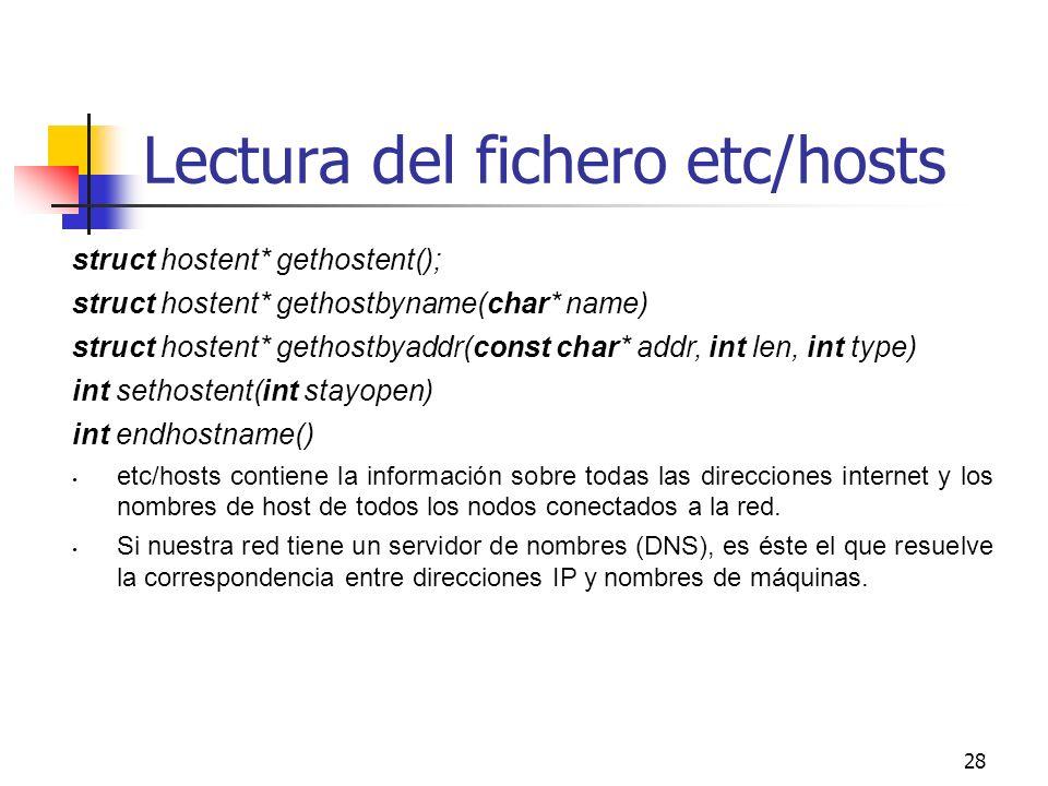 Lectura del fichero etc/hosts