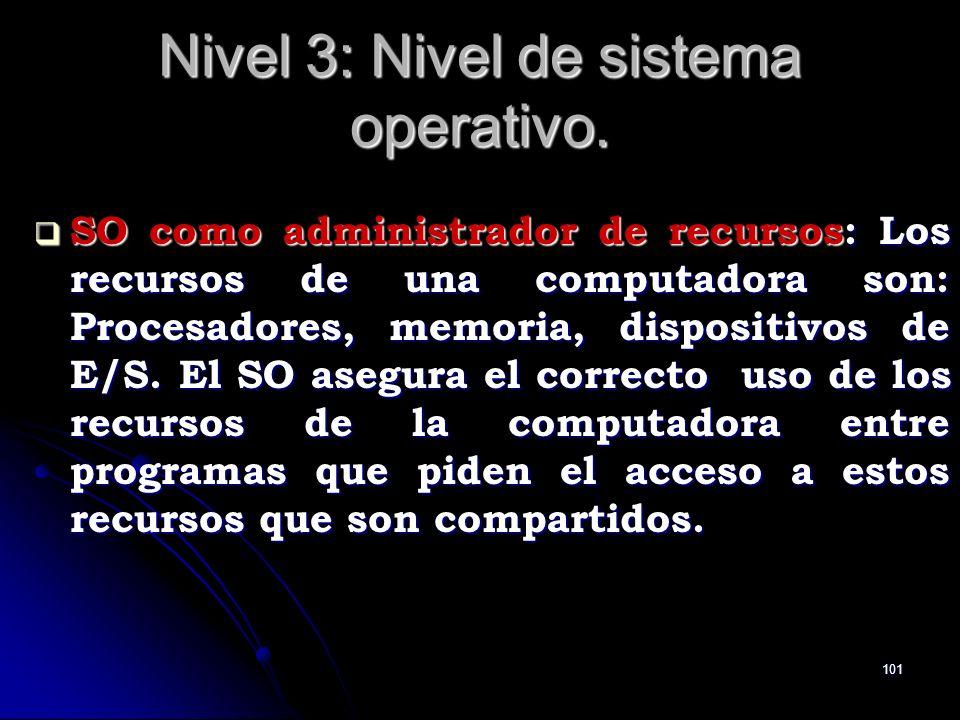 Nivel 3: Nivel de sistema operativo.