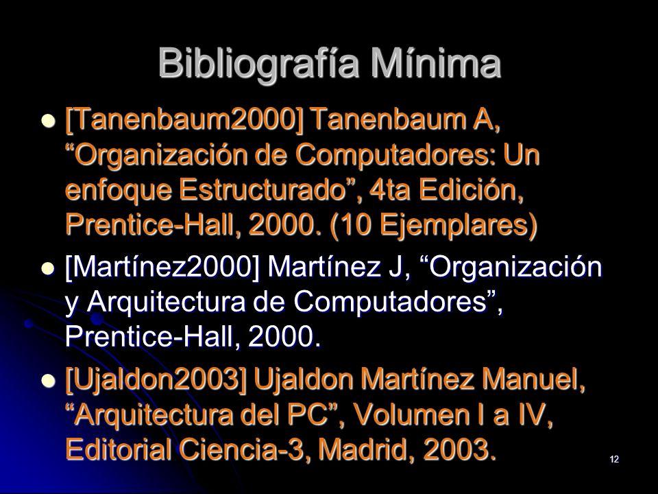 Bibliografía Mínima