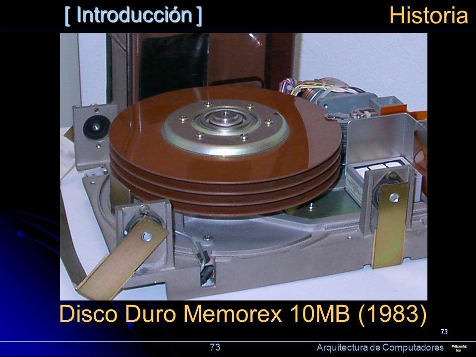Disco Duro Memorex 10MB (1983)